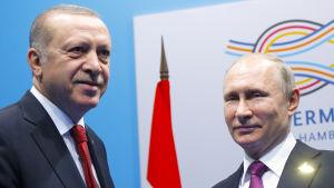 Erdoğan och Putin under G20-möte i Hamburg.