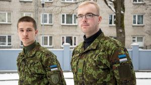 Edward Timoska och Vladislav Eglet vid Kaitseliit i Narva.
