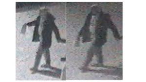 Den misstänkte gärningsmannen fångad på övervakningskamera.