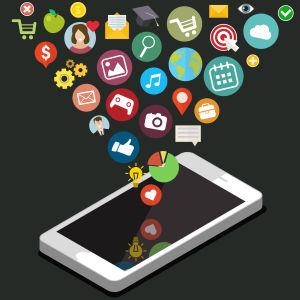Älypuhelin ja sovellusikoneja, grafiikka