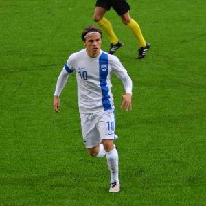 Simon Skrabb i Finlands U21-landslag.
