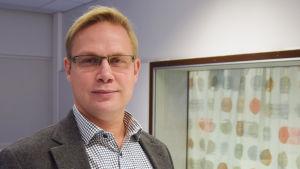 Niclas Grönholm, linjedirektör vid utbildningsverket i Helsingfors, november 2015