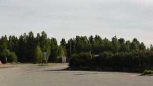 En parkeing i Ingå