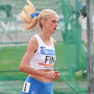 Karin Storbacka i lag-EM i Vasa 2017.