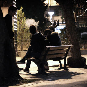 Minderåriga ensamkommande flyktingar i Aten.