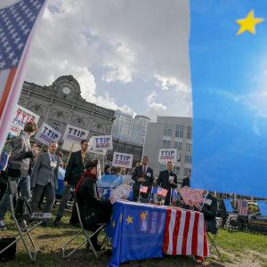 TTIP väcker protester hos de gröna i Europaparlamentet