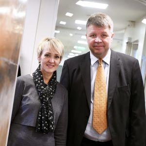 Forskarna Sari Pikkala och Sami Borg