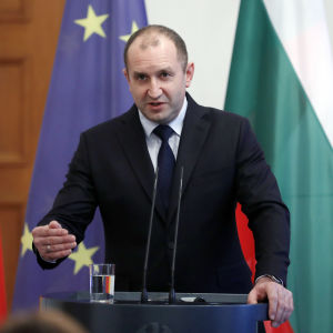 Bulgariens president Rumen Radev i Berlin i februari 2017
