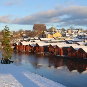 Gamla stan och strandbodarna vintern 2017