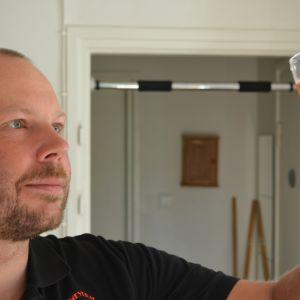 André Brunnsberg har ölbryggning som hobby.