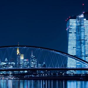 Europeiska centralbankens ECB:s högkvarter i Frankfurt.