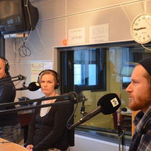Markus Drake, Marika Sorja, Sebastian Weckman diskuterar invandring i Morgonöppet