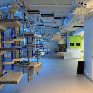 Den nya intensivvårdsavdelningen i Mejlans tornsjukhus.