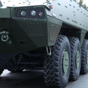 Patria militärfordon i Tavastehus den 11 december 2015