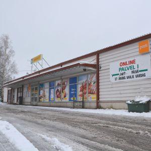 Sista öppethållningsdagen 27.10.17 i K-marketbutiken i Hindhår, borgå