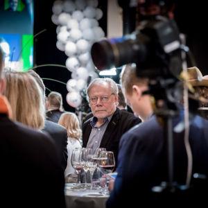 Elokuvaohjaaja Lauri Törhönen, Niinistön vaali-ilta, Vanha Ylioppilastalo, Hki, 28.1.2017.