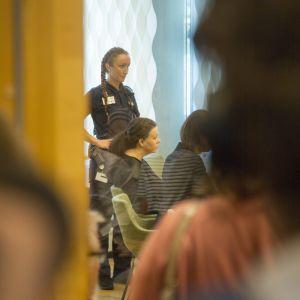 Slutplädering under rättegången mot de misstänkta.