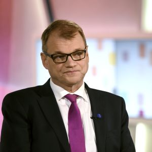 Juha Sipilä som gäst på Yles Morgonetta.