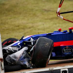 Carlos Sainz med söndrig bil.