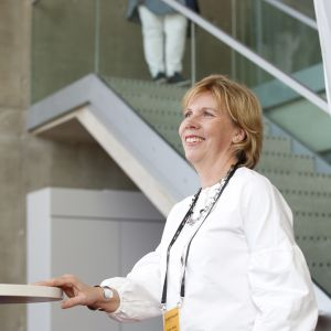 Anna-Maja Henriksson på SFP:s partidag i Uleåborg 2018.
