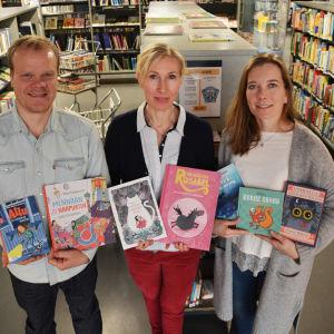 Oskar Silén, Mia Grönstrand och Pia Vuorio