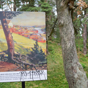 en bild på albert edelfelts målning från borgbacken