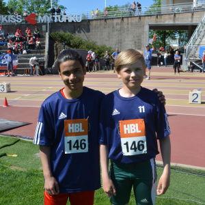 Mustafa och Albin från Oxhamns skola