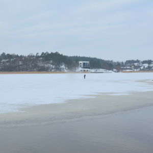 skidåkare på isen