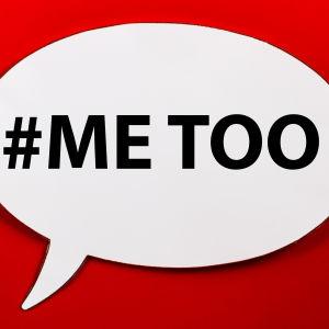 Pratbubbla med texten #metoo.