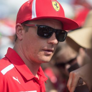 Kimi Räikkönen ger intervju.