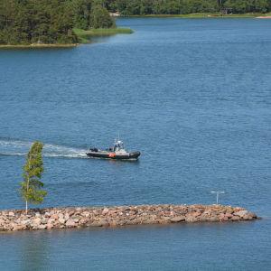 Sjöbevakningsbåt i Pärnäs.