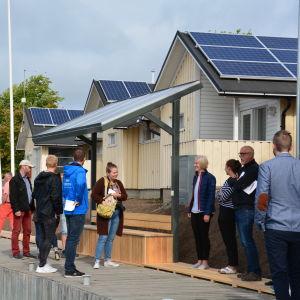 Solpaneler i Dalsbruks gästhamn