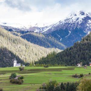Kantonen Graubünden i Schweiz.