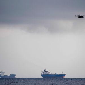 Sökande efter försvunnen ubåt utanför Danmarks kust.