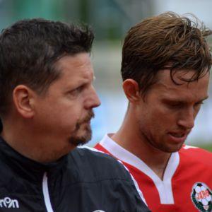Calle Löf och Christian Eissele från FF Jaro.
