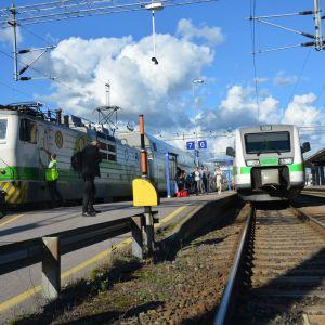Tågstationen i Åbo.