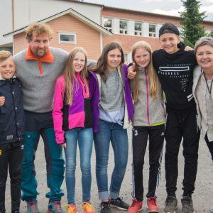 William Hansén, Herman Fogelberg, Agnes Franzén, Saga Fagerholm, Amelie Bystedt, Elias Gustafsson och Lena Sjöholm-Fahllund