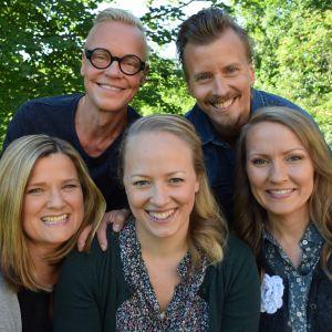 Jim Björni, Paul Svensson, Camilla Forsén-Ström, Elin Skagersten-Ström, Lee Esselström i gruppbild.