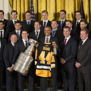 Pittsburgh Penguins besökte Vita Huset 2016.