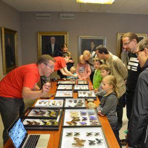Zoologiska museets samlingar visades upp under vetenskapsdagarna.