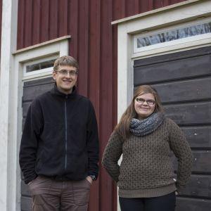 David Sandström och Emma Björklund