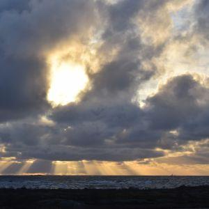 Bild på solnedgång i Utö.