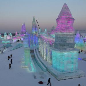 Isstaden i Harbin, Kina
