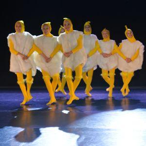 Pienten kananpoikien tanssi. MinimiDancers, en tävlingsgrupp från Musikinstitutet Arkipelag