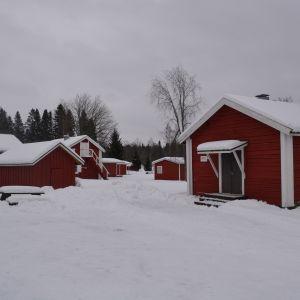 Svanen camping i Jakobstad i vinterskrud