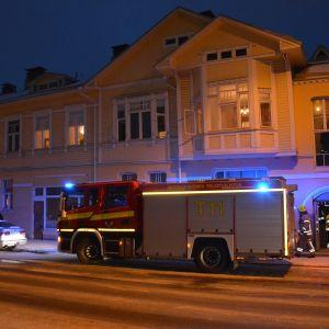 Brand på Trädgårdsgatan i Åbo 20180123