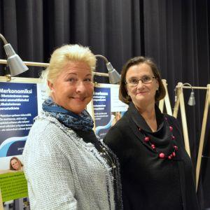 Susann Helenius-Nieminen och Maarika Weissmann jobbar på Point College