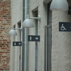 Toaletterskyltarna i Arken.
