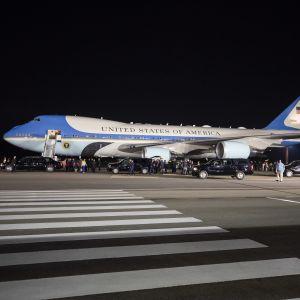 En bild på flygplanet för USA:s president.