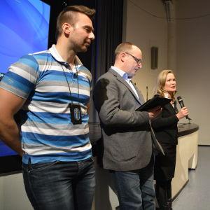 Håkan Björklöf, Kurt Torsell och Mirjam Kalland.